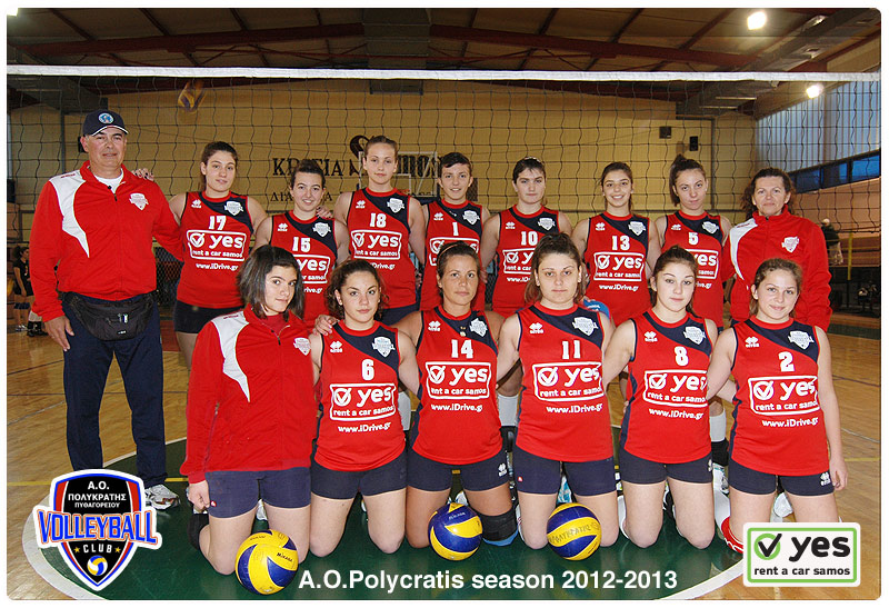 yes sponsoring Polycratis volleybal