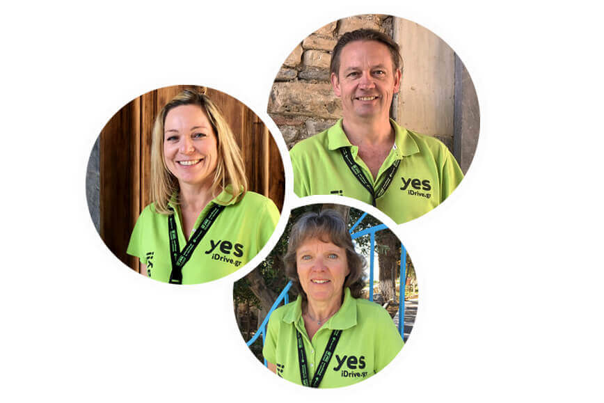 yes rent a car team: Brigitte, Sandy en Kordula